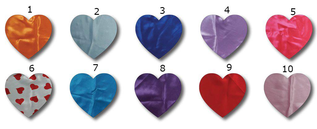 כרית לב סאטן מגוון צבעים